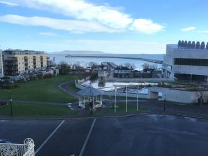 Image of Dun Laoghaire taken from the Royal Marine Hotel